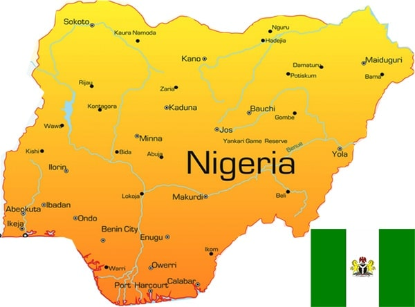 nigeria map - Poly Kraft Cement Bags